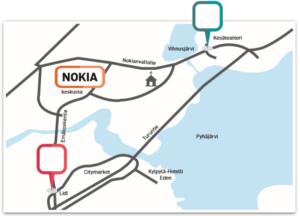 Digitaaliset mainosnäyttötaulut Nokialla